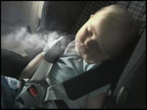 infant in car