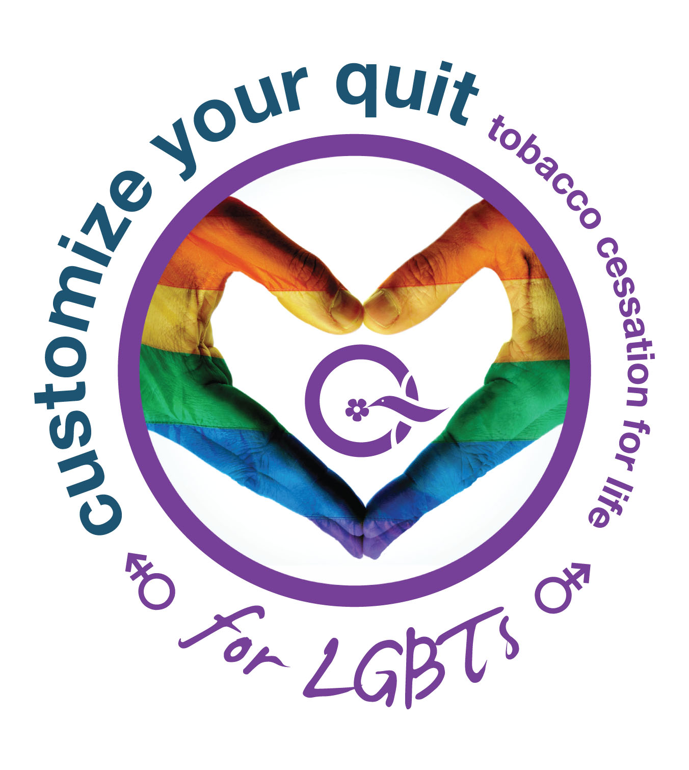 CustomizeYourQuit-LGBT-logo-circle